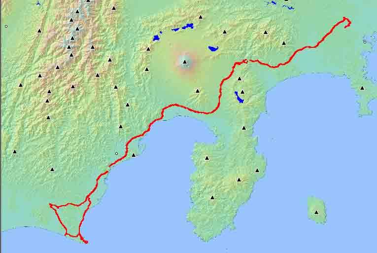 本日の走行420km(2003/11/2(日))