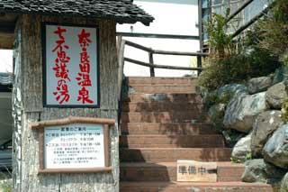 奈良田温泉看板