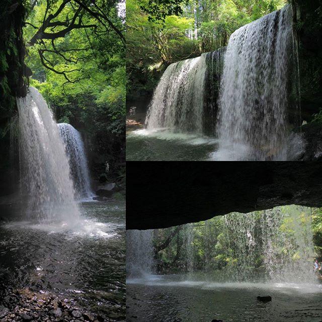 涼める滝。滝の裏側は涼しいです。#ツーリング