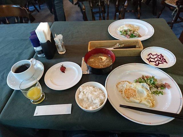 朝飯です。