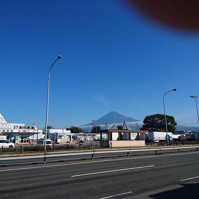 台風一過で富士山良く見える。#ツーリング