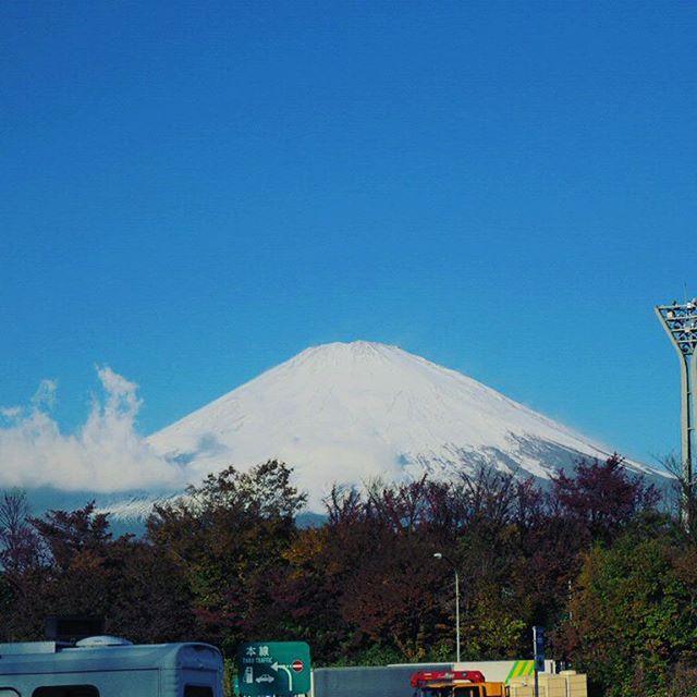 富士山真っ白#touring