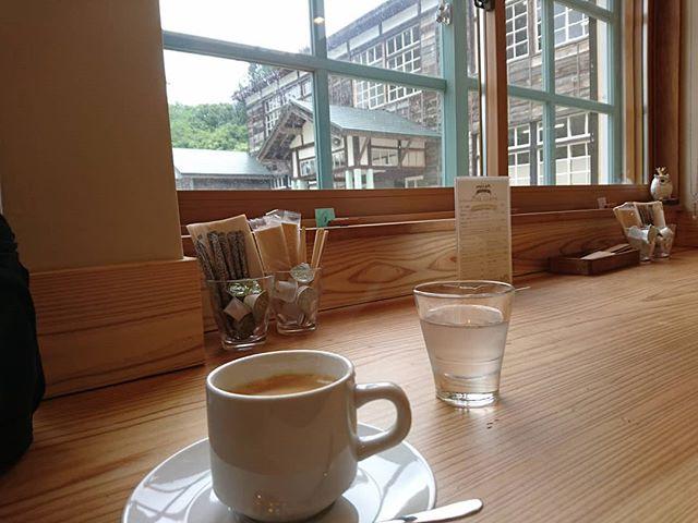 廃校のカフェで一休み#touring #touringbike