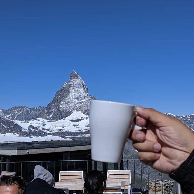 マッターホルン見ながらコーヒーを#touringbike #touring